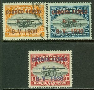 EDW1949SELL : BOLIVIA 1930 Scott #C14 VF, Mint OG. #C15-16 VF, Used. Catalog $60