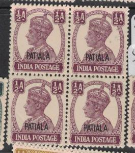 India Patalia SG 104 Block of Four MNH (3dtv)