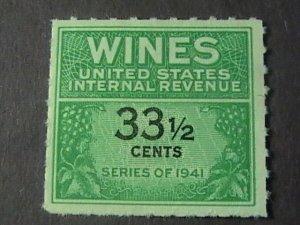 U.S.# RE188-MINT/NEVER HINGED---WINE STAMP---1951-54(LOTb)