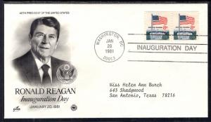 US Ronald Reagan 1st Term Inauguration 1981 PCS Artcraft Variety Cover