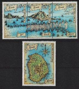 Nevis Battle of Frigate Bay 1782 4v 1989 MNH SG#517-520 SC#465+467 CV£7.50