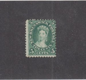 NEW BRUNSWICK (MK3935) # 8 F-MH  5cts  QUEEN VICTORIA /1860 /GREEN /CENTS ISSUE