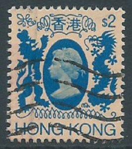 Hong Kong, Sc #399, $2 Used
