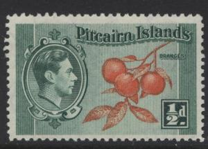 Pitcairn Is. - Scott 1 -Definitives - 1940 - MNH - Blue Grn & Org - 1/2d Stamp2