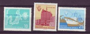 J24868 JLstamps 1962 germany DDR set mnh #614-6 designs
