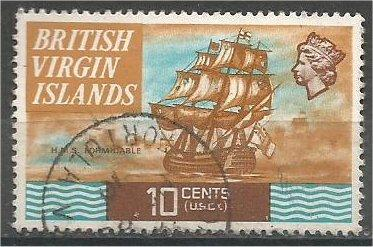 VIRGIN ISLANDS, 1970, used 10c H.M.S. Formidable, Scott 214