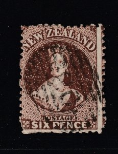 New Zealand a used 6d brown QV full face queen
