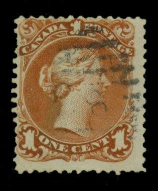 Canada #22 Used F-VF Sht  Perf Cat$140