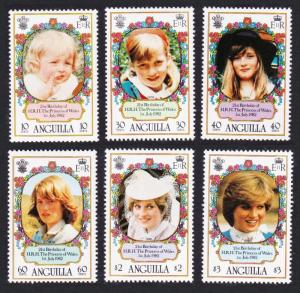 Anguilla 21st Birthday of Princess of Wales 6v SG#507-512 SC#485-490