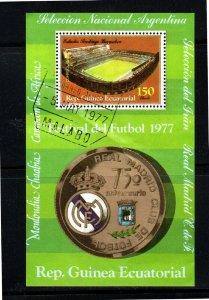 EQUATORIAL GUINEA 1978  MADRID REAL  MINT  VF NH  O.G S/S  CTO  (eq4b)