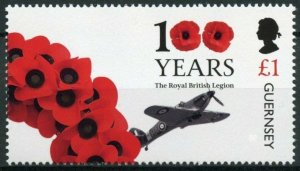 Guernsey Military Stamps 2021 MNH Royal British Legion Part 2 Aviation 1v Set