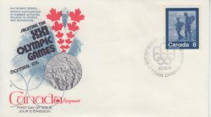 1974 Canada Keeping Fit 1976 Olympic Games Hiking (Scott 632) Kingswood FDC