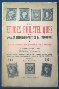 Les ÉTUDES PHILATéLIQUES Classic philatelic-literature 1948 France Worldwide
