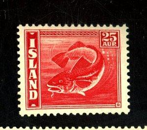 ICELAND #224B MINT FVF OG NH Cat $210