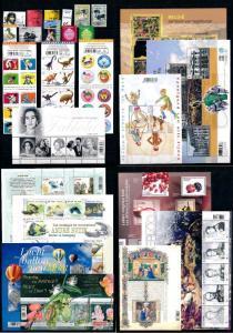 Belgium 2015 Complete Year Set incl.  11 souv. Sheets / 3 carnets MNH