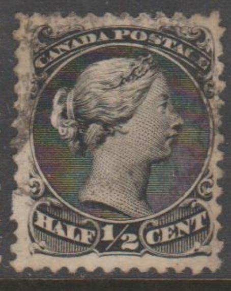 Canada Scott #21 Stamp - Cat $80 - Used Single