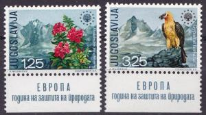 Yugoslavia 1970 Scott 1042-43 European Nature ProtectionYear. Vulture. VF/NH(**)