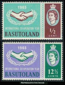 Basutoland Scott 103-104 Mint never hinged.