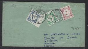 LESOTHO  (P1612B)   POSTAGE DUE  LETTER   1975