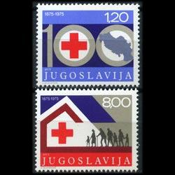 YUGOSLAVIA 1975 - Scott# 1273-4 Red Cross Set of 2 NH