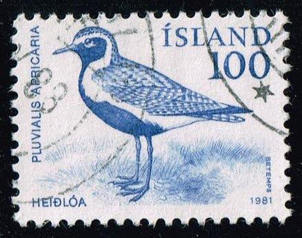 Iceland #544 Golden Plover Bird; Used at Wholesale