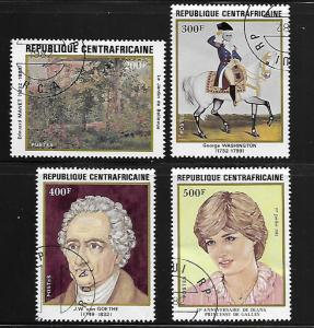 CENTRAL AFRICAN REPUBLIC  517-519  USED, ANNIVERSARIES BY EDOUARD MANET