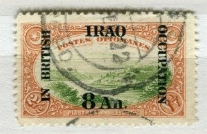 IRAQ; 1918 early BRITISH OCCUPATION issue fine used 8a. value
