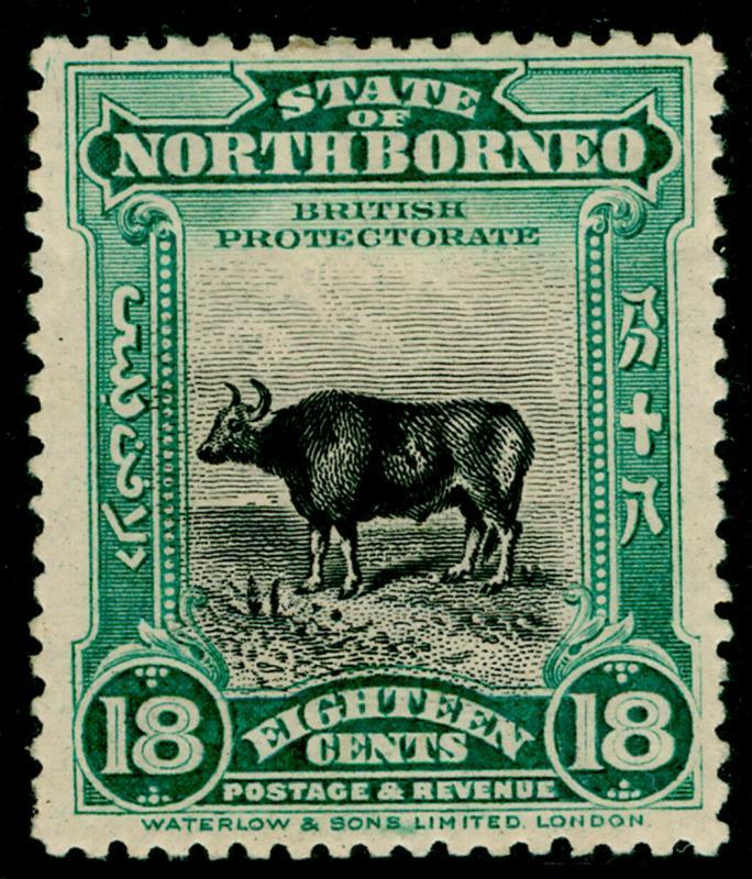 NORTH BORNEO SG175, 18c blue-green, M MINT. Cat £160.