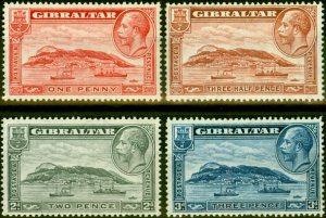 Gibraltar 1931-33 Set of 4 SG110-113 Fine Mtd Mint