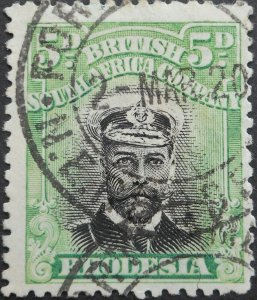 Rhodesia Admiral Die I 5d with FORT JAMESON (DC) postmark