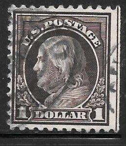 USA 518: $1 Franklin, used, SE