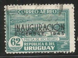 URUGUAY  C120  USED,  COMMEMORATING INAUGURATION OF BLACK RIVER POWER DAM