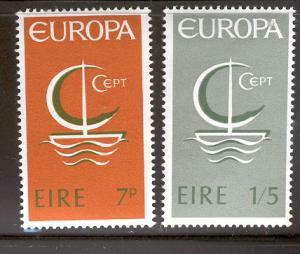 IRELAND MNH 216-7 EUROPA SYMBOLIC SAILBOAT