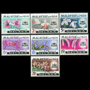 MALAYSIA-MALACCA 1965 - Scott# 67-73 Orchids Set of 7 NH
