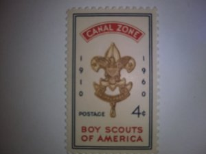 CANAL ZONE FOUR CENT BOY SCOUTS OF AMERICA SINGLE GEM MINT NEVER HINGED   1960
