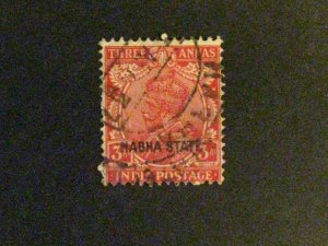 India-Nabha #67 used creased a198.9440