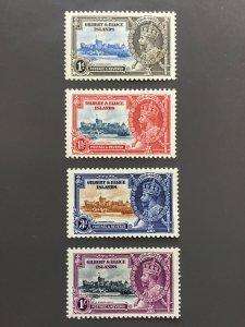 Gilbert & Ellice Islands 33-36 F-VF MH. Scott $ 36.80