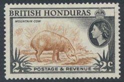 British Honduras SG 180a SC # 145 MLH  perf 14  Mountain Cow  see scan