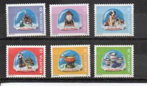 Switzerland 1067-1072 MNH