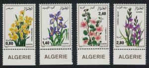 Algeria Flowers 4v Bottom Margins SG#941-944