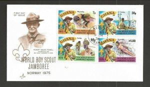 1975 Ghana 14th World Boy Scout Jamboree FDC Artcraft