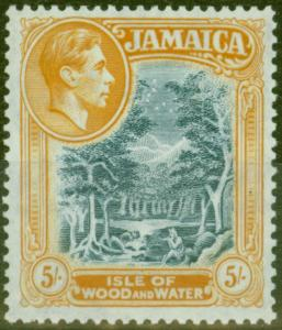 Jamaica 1949 5s Slate-Blue & Yellow-Orange SG132b V.F MNH
