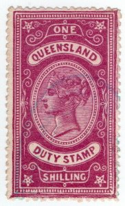 (I.B) Australia - Queensland Revenue : Stamp Duty 1/-