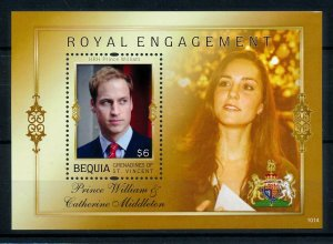 [101334] Bequia Gren. Of St. Vincent 2011 Royal engagement William Sheet MNH