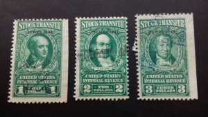 United States 1940 Stock Transfers Used