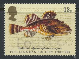 Great Britain SG 1380 -  Used - Linnean Society