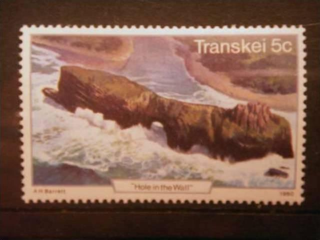 TRANSKEI, 1980, MNH 5c, Tourism. Hole in the Wall