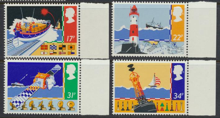 GB SG 1286 - 1289  SC# 1107-1110 Mint Never Hinged - Safety at Sea