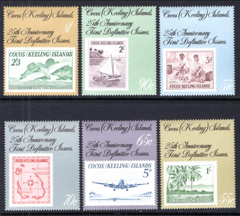 Cocos Keeling Islands 177-182 Stamp on Stamp MNH VF