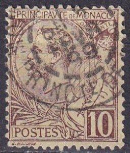 Monaco #15 F-VF Used  CV $16.00  (Z4323)